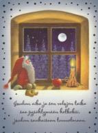 Brownie - Gnome - Elf Sitting By Window - Apple - Candle Lighting - Eva Melhuish - Navidad