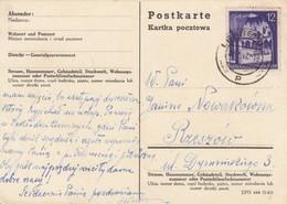 GG: Postkarte Mit 12Gr. Von Lemberg Nach Rzeszow - Besetzungen 1938-45