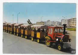 (RECTO / VERSO) SAINT JEAN DE MONTS EN 1972 - N° 69 - LE PETIT TRAIN - MANQUE MATIERE AU DOS - CPSM GF VOYAGEE - Saint Jean De Monts