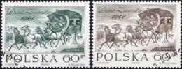 Poland 1964 - Mi 1530/31 - YT 1383/84 ( Stamp Day: Horse Stagecoach ) - 1944-.... République