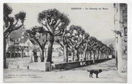 (RECTO / VERSO) ARBOIS EN 1914 - LE CHAMP DE MARS - BEAU CACHET - CPA VOYAGEE - Arbois