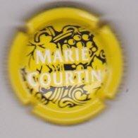 Capsule Champagne COURTIN Marie ( 4 ; Jaune  Noir Et Blanc ) {S46-19} - Champagne