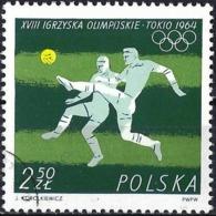 Poland 1964 - Mi 1519 - YT 1375 ( Tokyo Olympics : Football ) - 1944-.... République
