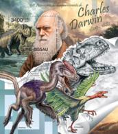 Guinea Bissau  2012  Charles Darwin  ,dinosaurs - Guinea-Bissau