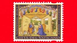 VATICANO - Usato - 2015 - Natale - Chistmas -  0,80 - Santa Famiglia - Vaticano