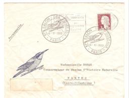 Lot De 2 Enveloppes Avec Cachet Commémoratif Salon Des Oiseaux 10/11/1960 Et La Poste Et Le Train 1984 - Marcophilie (Lettres)