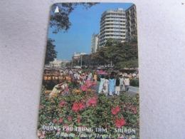 VIETNAM Used GPT Card   97MVSA  Down Street Saigon Flowers - Vietnam
