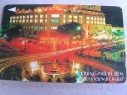 VIETNAM Used GPT Card   102MVSA DOWNTOWN AT NIGHT - Vietnam
