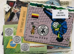 Paquetes De Sellos Mundiales  50 Hojas Bloque Diferentes - Sellos