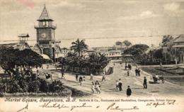 MARKET SQUARE GEORGETOWN BRITISH GUIANA GUYANE BRITANNIQUE GUAYANA - Postales