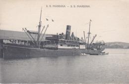 BE17- PAPOUASIE NOUVELLE GUINEE BATEAU   MARSINA DE LA MISSION SACRE COEUR  D'ISSOUDUN - Papua-Neuguinea