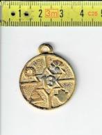 124 - MEDAILLE - Fer à Cheval - Trèfle Quatre - 13  /  Hoefijzer - Klaver Vier - 13 ( 14 Gram ) - Jetons & Médailles