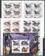 BB348 2011 BURUNDI FAUNA ANIMALS BATS LES CHAUVES-SOURIS !!! 1KB+10SET MNH - Bats