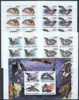 BB349 !!! IMPERFORATE 2011 BURUNDI FAUNA BATS CHAUVES-SOURIS !!! 1KB+10SET MNH - Bats