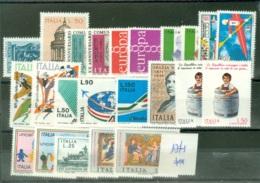 Italie   Yvert  Année Complète  1971  * *  TB - 1946-.. République