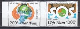 Vietnam 1990 - Protection De La Foret, Mi-Nr. 2273/74, Dent., MNH** - Vietnam