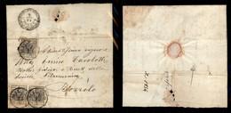 ANTICHI STATI ITALIANI - LOMBARDO VENETO - 10 Cent (2c) - Singolo E Coppia (provenienti Dalla Medesima Striscia) Su Lett - Postzegels