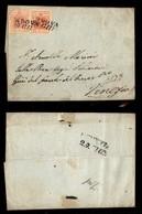 ANTICHI STATI ITALIANI - LOMBARDO VENETO - Colori Diversi - Due 15 Cent (5) Su Lettera Da Padova A Venezia Del 29.6.52 - Postzegels
