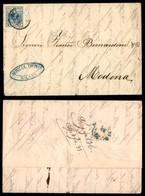 ANTICHI STATI ITALIANI - LOMBARDO VENETO - 45 Cent (22) Carta A Macchina - Lettera D'archivio Da Milano A Modena Del 25. - Postzegels