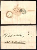 ANTICHI STATI ITALIANI - LOMBARDO VENETO - Croce Bruna (D) Come Chiudilettera Al Retro Con Sigillo Del Mittente E Annull - Postzegels