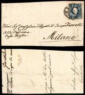 ANTICHI STATI ITALIANI - LOMBARDO VENETO - 15 Soldi (27) Isolato Su Frontespizio Di Lettera Da Venezia A Milano - Postzegels