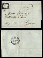 ANTICHI STATI ITALIANI - LOMBARDO VENETO - Provvisorio - 20 Cent (C3) Su Lettera Da Milano A Gandino Del 27.7.59 - Piega - Postzegels