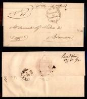 ANTICHI STATI ITALIANI - LOMBARDO VENETO - Lettera In Franchigia Da S. Daniele (P.ti 4) A Pieve D'Olmi (P.ti 4 - Al Retr - Postzegels