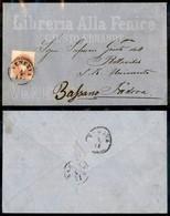 ANTICHI STATI ITALIANI - LOMBARDO VENETO - 5 Soldi (33) - Busta Pubblicitaria (Libreria Alla Fenice) Da Venezia A Bassan - Postzegels