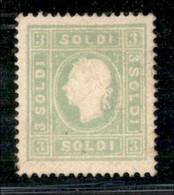 ANTICHI STATI ITALIANI - LOMBARDO VENETO - 1862 - 3 Soldi (35) - Gomma Originale (in Parte Manipolata) - Cert. Sottoriva - Postzegels