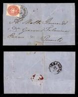 ANTICHI STATI ITALIANI - LOMBARDO VENETO - 28 Aprile 1866 - 5 Soldi (43) Su Lettera Da Auronzo (P.ti 5 - Oleoso) A Perar - Postzegels