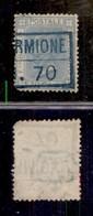 ANTICHI STATI ITALIANI - LOMBARDO VENETO - Navigazione Sul Lago Di Garda - (Piros.fo Se)rmione.70 (azzurro - P.ti R3) Su - Postzegels