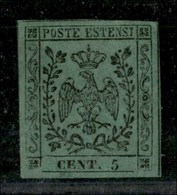 ANTICHI STATI ITALIANI - MODENA - 1852 - 5 Cent (1) - Ottimi Margini - Gomma Originale - Diena (7.000) - Postzegels