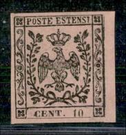 ANTICHI STATI ITALIANI - MODENA - 1852 - 10 Cent (2) - Ottimi Margini E Bordo Foglio - Gomma Originale - Molto Bello - C - Postzegels