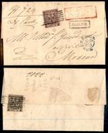 ANTICHI STATI ITALIANI - MODENA - 10 Cent (2) Su Raccomandata Da Vignola A Modena Del 19.6.54 Con 25 Cent (4) Strappato  - Postzegels