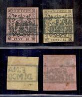 ANTICHI STATI ITALIANI - MODENA - Finale Di Modena (azzurro - P.ti R1) - 10 Cent (2a) + 15 Cent (3) - Da Esaminare - Postzegels