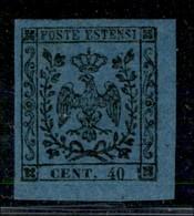 ANTICHI STATI ITALIANI - MODENA - 1852 - 40 Cent (6) - Grandi Margini E Angolo Di Foglio - Gomma Originale - Molto Bello - Postzegels