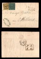 ANTICHI STATI ITALIANI - MODENA - Governo Provvisorio - Cisappennino - 15 Cent (3) + 5 Cent (8) - Lettera Da Reggio A Mi - Postzegels