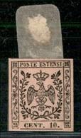 ANTICHI STATI ITALIANI - MODENA - 1852 - 10 Cent (9) - Ottimi Margini - Gomma Originale - Raybaudi (800) - Postzegels