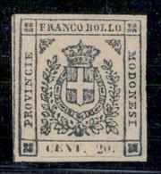 ANTICHI STATI ITALIANI - MODENA - 1859 - 20 Cent (15) - Ottimi Margini - Gomma Originale - Molto Bello - Cert. Sorani (5 - Postzegels