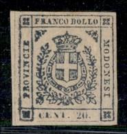 ANTICHI STATI ITALIANI - MODENA - 1859 - 20 Cent (15) Bordo Foglio - Gomma Originale - Molto Bello - Diena + Cert. Rayba - Postzegels
