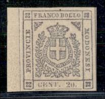 ANTICHI STATI ITALIANI - MODENA - 1859 - 20 Cent (16) Bordo Foglio - Gomma Integra - Molto Bello - G. Bolaffi - Postzegels