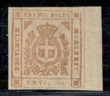 ANTICHI STATI ITALIANI - MODENA - 1859 - 80 Cent (18a) - Grandi Margini E Bordo Foglio - Gomma Originale - Molto Bello - - Postzegels