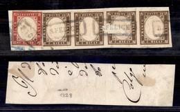 ANTICHI STATI ITALIANI - MODENA - S. Felice (azzurro) + Raccomandata (P.ti 13) - Frammento Con Affrancatura Multipla Di  - Postzegels