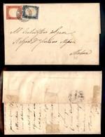 ANTICHI STATI ITALIANI - MODENA - Castelnuovo Di Garfagnana (azzurro - P.ti 11) - Affrancatura Di Sardegna (15D + 16D) S - Postzegels