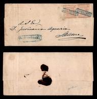 ANTICHI STATI ITALIANI - NAPOLI - Annullato Di Campagna (azzurro - P.ti 8) - Coppia Del 1 Grano (3) Su Piego Per Salerno - Postzegels