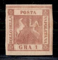 ANTICHI STATI ITALIANI - NAPOLI - 1859 - 1 Grano (4) - Gomma Originale - Molto Bello - Sorani (1.800) - Postzegels