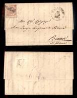 ANTICHI STATI ITALIANI - NAPOLI - Annullato Di Agnone (P.ti 12) - 2 Grana (5) Su Lettera Per Penne Del 23.3.61 - Diena + - Postzegels