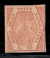 ANTICHI STATI ITALIANI - NAPOLI - 1858 - 10 Grana (10a) - Gomma Originale - Margini Precisi - Diena (24.000) - Postzegels