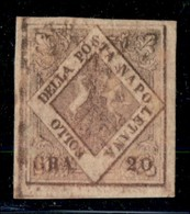 ANTICHI STATI ITALIANI - NAPOLI - 1858 - 20 Grana (12a - Rosa Lilla Scuro) - Grandi Margini - Gomma Originale - Molto Be - Postzegels