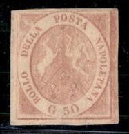 ANTICHI STATI ITALIANI - NAPOLI - 1858 - 50 Grana (14a) - Ottimi Margini - Gomma Originale - Molto Bello - G. Bolaffi (3 - Postzegels